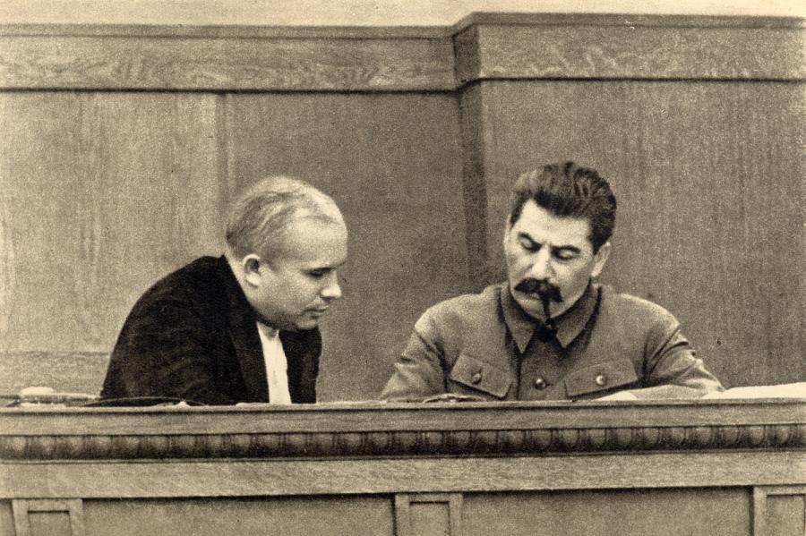 Józef Stalin i Nikita Chruszczow. Zdjęcie z 1936 roku