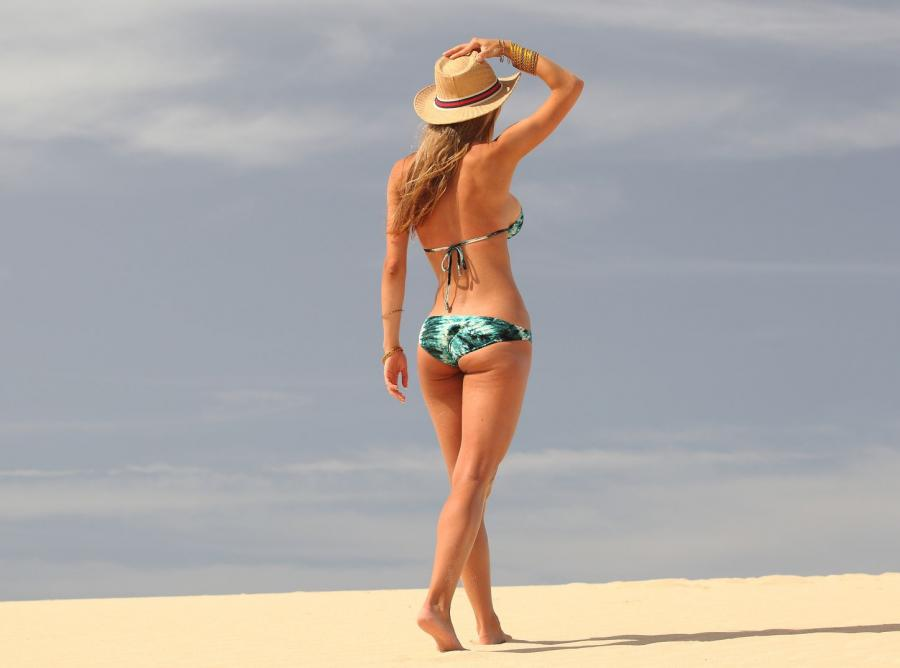 modelka na plaży