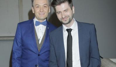 Robert Biedroń i Krzysztof Śmiszek na gali Wiktorów