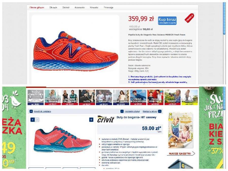Zestawienie butów New Balance i Lidl - zamieszczone przez New Balance