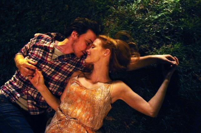 """Jessica Chastain i James McAvoy w filmie """"Zniknięcie Eleanor Rigby"""""""