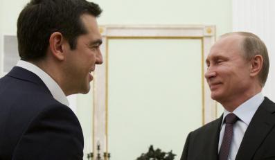 Aleksis Tsipras i Władimir Putin