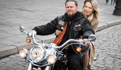 Magdalena Ogórek w Bydgoszczy jeździła na Harleyu Davidsonie