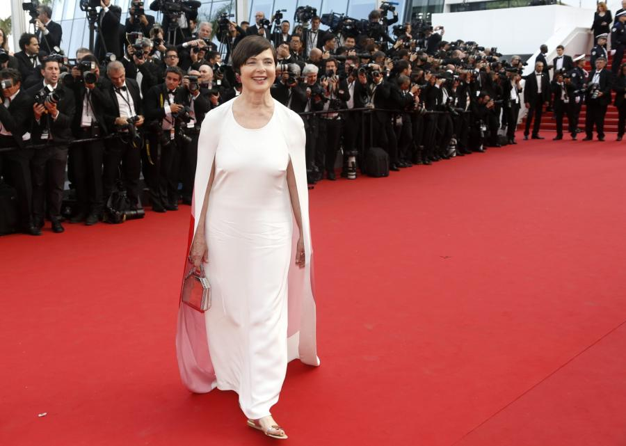 Isabella Rossellini na festiwalu w Cannes