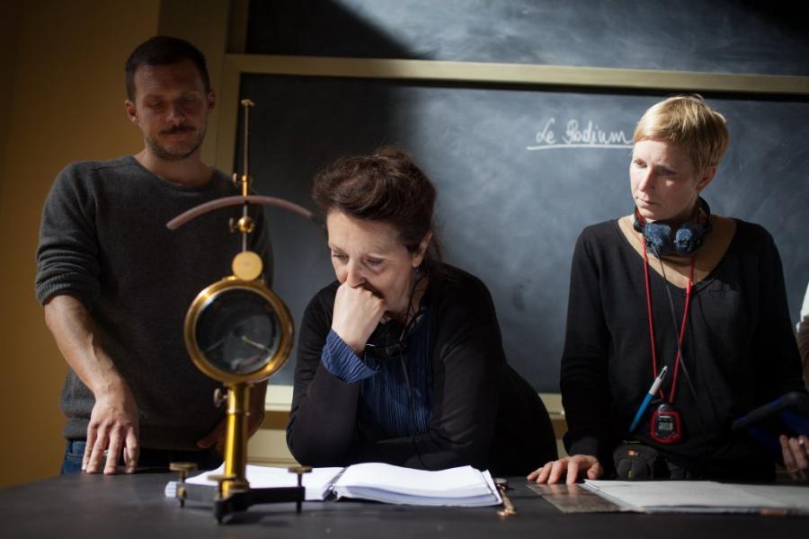 """Na planie filmu """"Maria Skłodowska-Curie"""""""