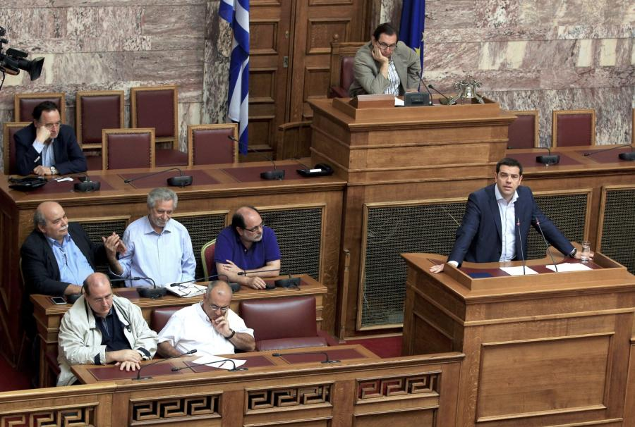 Alexis Tsipras w greckim parlamencie