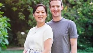 Mark Zuckerberg i jego żona, Priscilla Chan