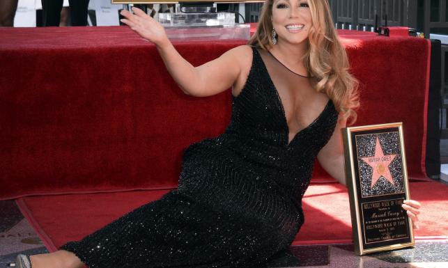 Diva z gwiazdą. Mariah Carey uhonorowana w Hollywood [ZDJĘCIA]