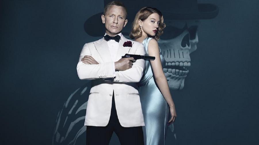 Daniel Craig i Léa Seydoux na plakacie zapowiadającym \