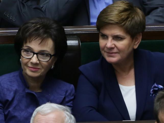 Elżbieta Witek i Beata Szydło