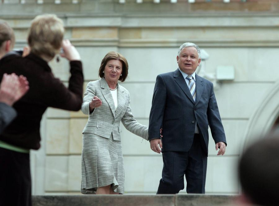 Para prezydencka Lech i Maria Kaczyńscy
