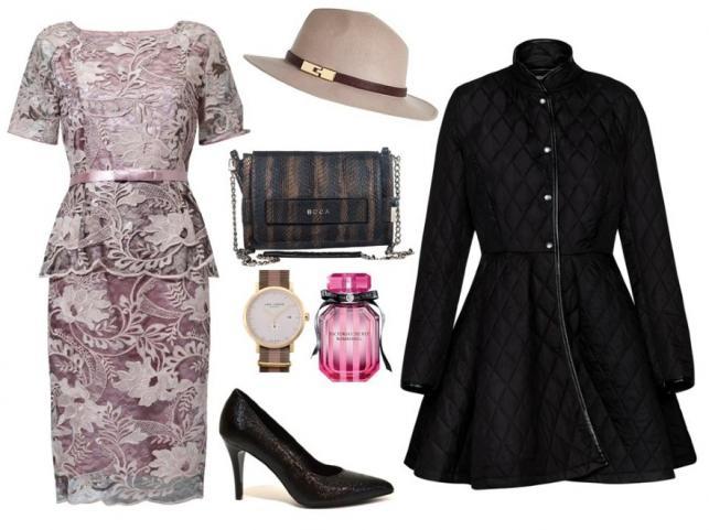 Sukienka - TOK/tok.net.pl, płaszcz - MOSQUITO/mosquito.pl, buty - Follow Me/followmebutik.pl, torebka - Boca/boca.pl, kapelusz -Tkmaxx/tkmaxx.pl, zegarek - Tkmaxx/tkmaxx.pl, perfumy - Victoria's Secret