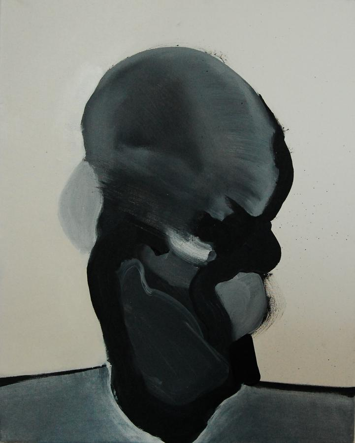 """""""Szkice do portretu 4"""", Cezary Bednarczyk, olej na płótnie, 50x40 cm"""