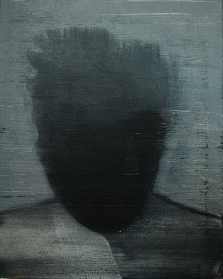 """""""Szkice do portretu 15"""", Cezary Bednarczyk, olej na płótnie, 50x40 cm"""