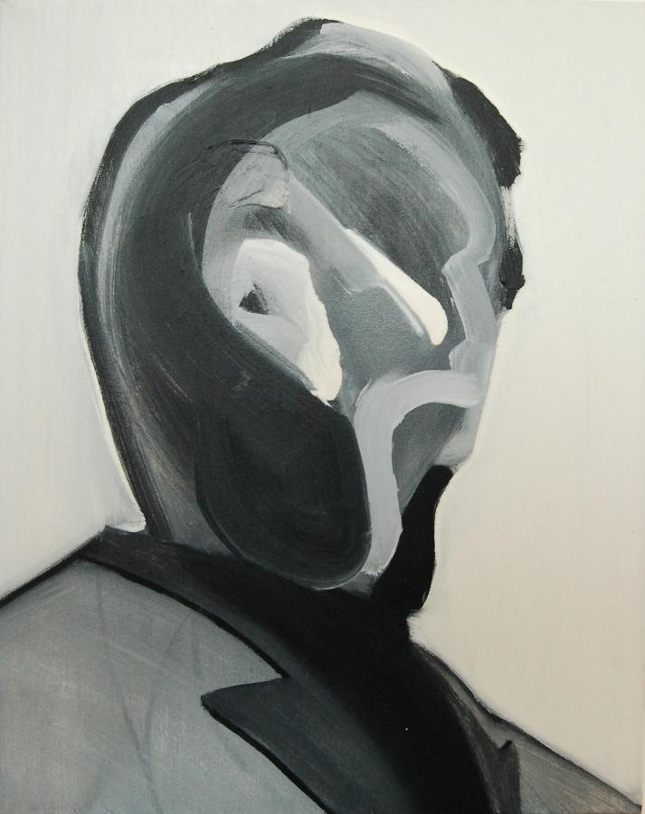 """""""Szkice do portretu 18"""", Cezary Bednarczyk, olej na płótnie, 50x40 cm"""