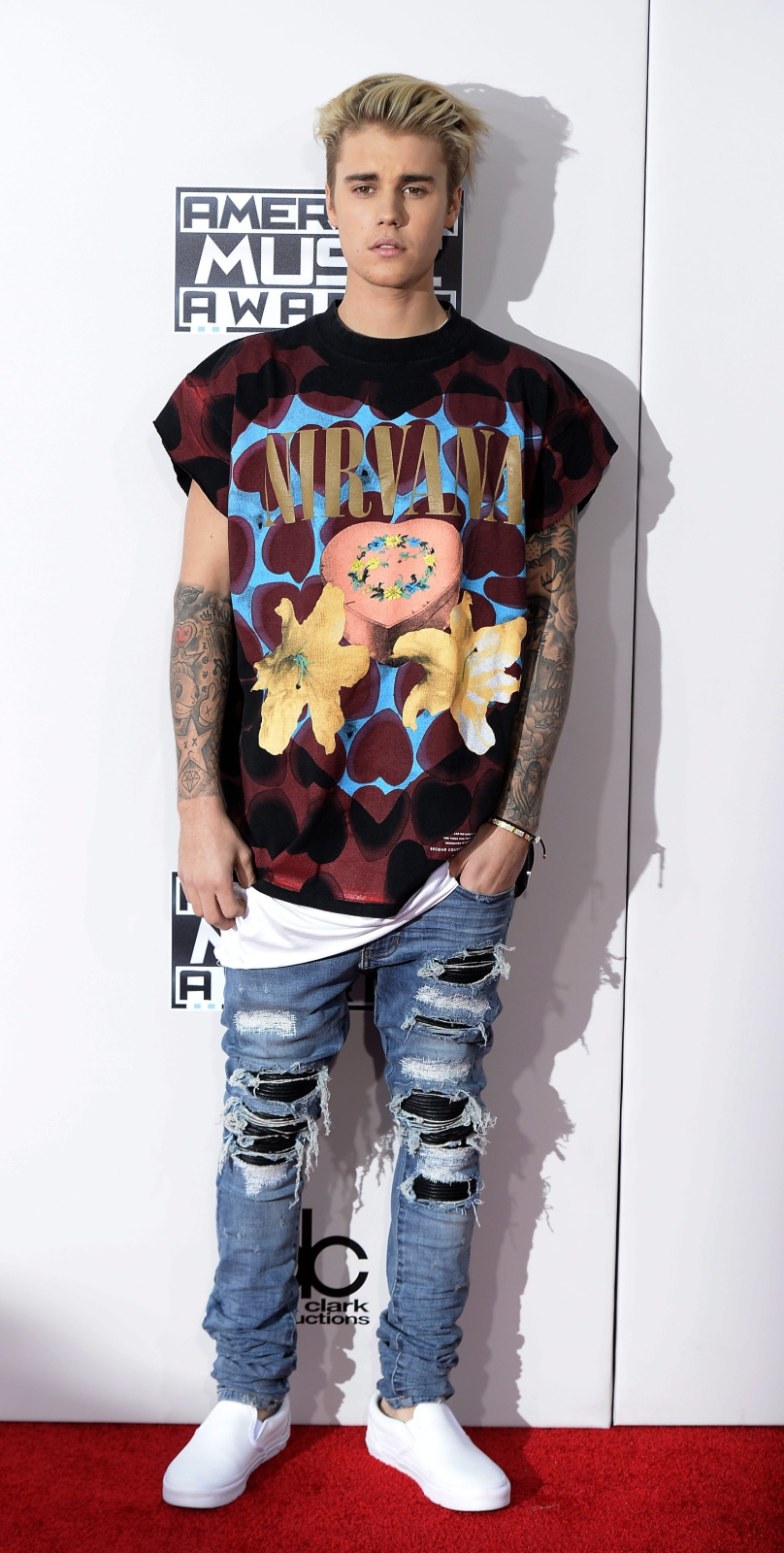 Justin Bieber na gali American Music Awards 2015