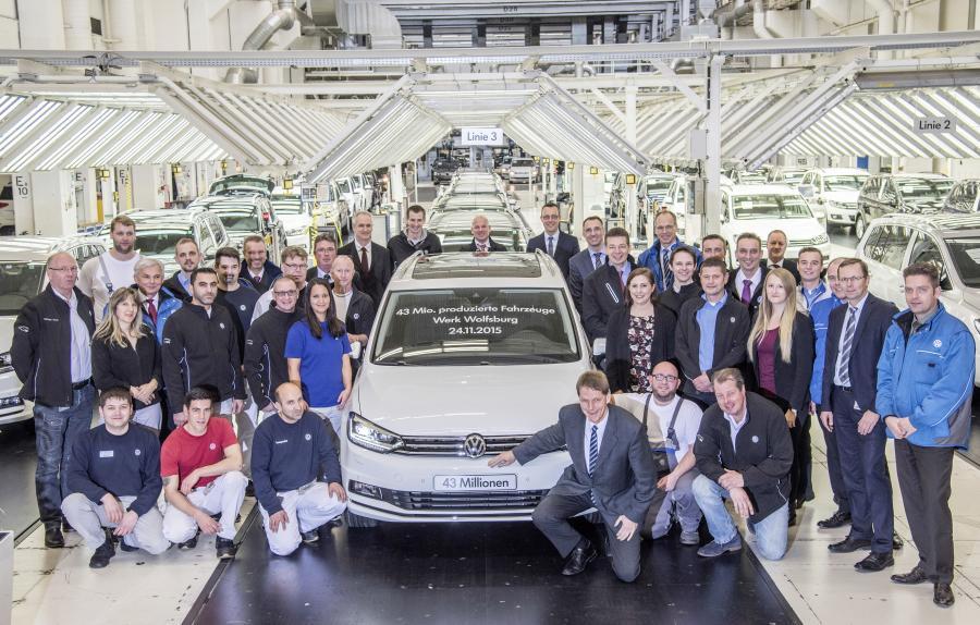 Volkswagen touran z Wolfsburga