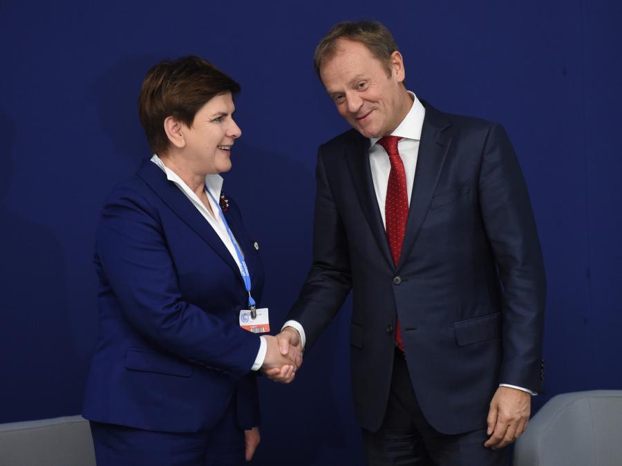 Beata Szydło i Donald Tusk