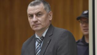 Oskarżony Brunon Kwiecień wygłasza mowę końcową