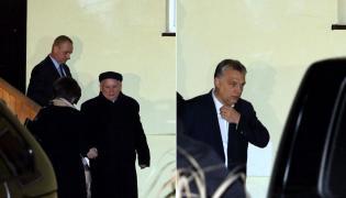 Jarosław Kaczyński i Viktor Orban po spotkaniu w Niedzicy