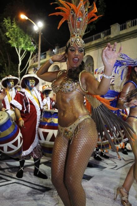 Parada karnawałowa w Montevideo w Urugwaju