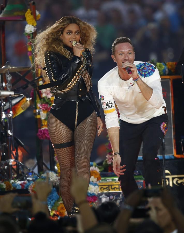 Beyoncé i Chris Martin na Super Bowl 2016