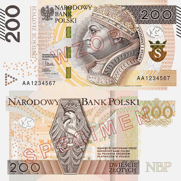 Nowy 200-złotowy banknot