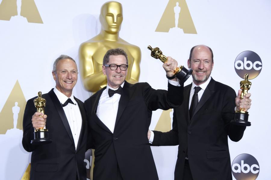 """Oscary 2016 – najlepszy dźwięk: """"Mad Max: Na drodze gniewu"""", Chris Jenkins, Gregg Rudloff i Ben Osmo"""