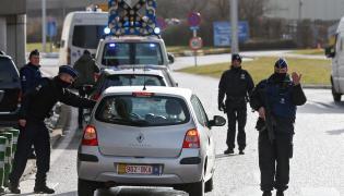 Policyjna kontrola w Brukseli
