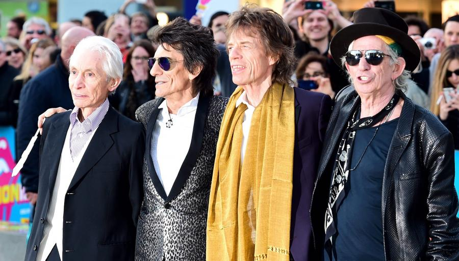 Charlie Watts, Ronnie Wood, Mick Jagger i Keith Richards w Londynie