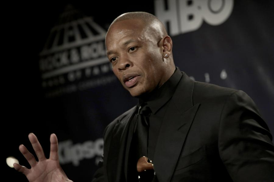 Dr. Dre podczas ceremonii wprowadzenia do Rock and Roll Hall of Fame