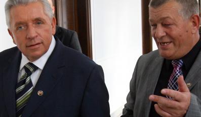 Andrzej Lepper i Stanisław Łyżwiński-bohaterowie seksafery w Samoobronie