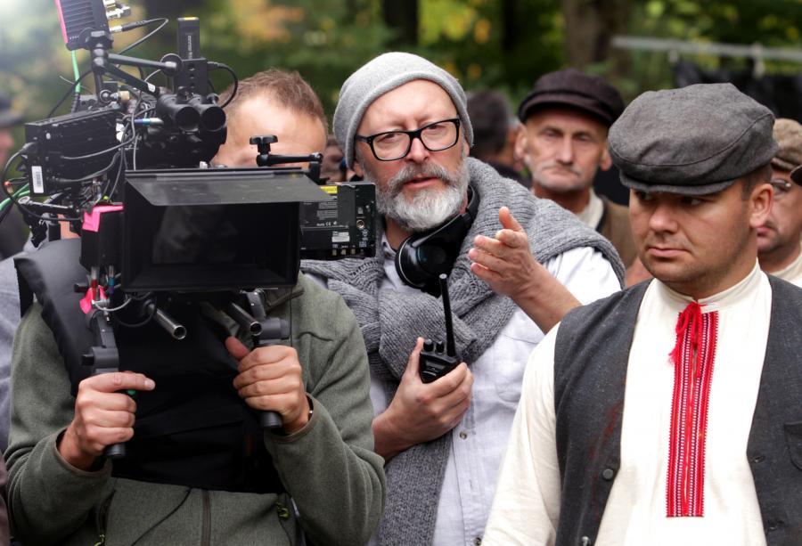 Wojciech Smarzowski na planie filmu \