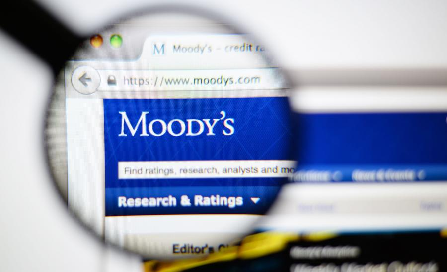 Strona internetowa agencji ratingowej Moody\'s