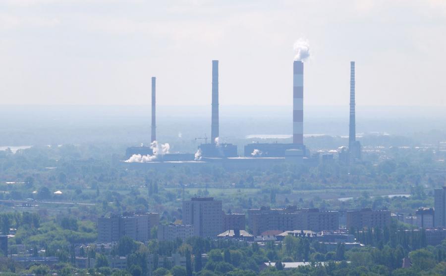 Zanieczyszczone powietrze nad Warszawą