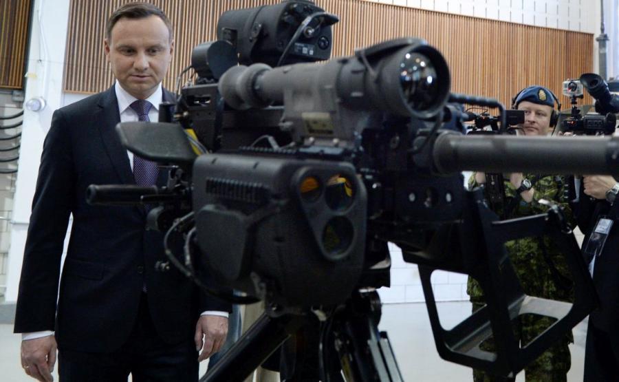 Andrzej Duda podczas wizyty w Kanadzie