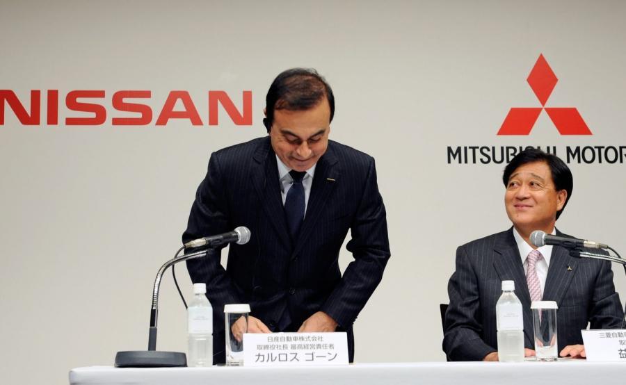 Carlos Ghosn, prezes Nissana i Osamu Masuko, prezes Mitsubishi