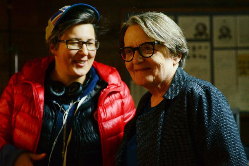 Kasia Adamik i Agnieszka Holland na planie \
