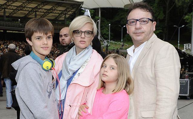 Zbigniew Zamachowski i Monika Zamachowska z dziećmi