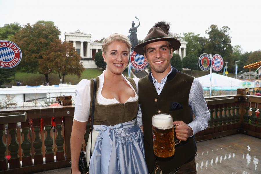 Philipp Lahm z żoną
