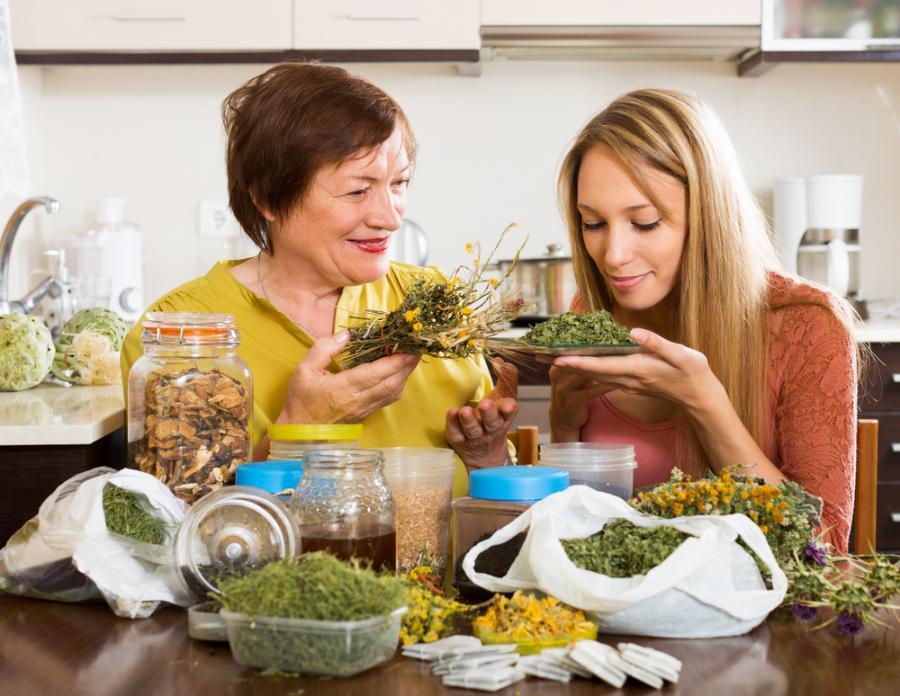Kobiety z ziołami
