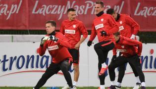 Zawodnicy piłkarskiej reprezentacji Polski (od lewej): Wojciech Szczęsny, Sławomir Peszko i Arkadiusz Milik