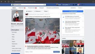 Zablokowana strona Marka Jakubiaka