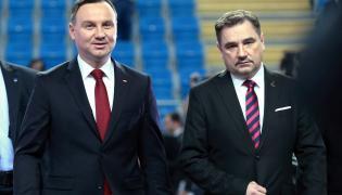 """Prezydent Andrzej Duda i szef """"S"""" Piotr Duda"""