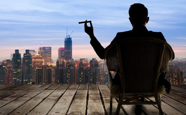 Mężczyzna z cygarem