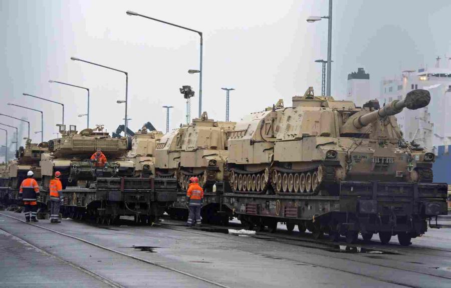 Amerykańskie czołgi jadą do Polski