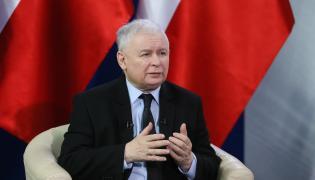 Prezes Prawa i Sprawiedliwości Jarosław Kaczyński podczas wywiadu udzielanego