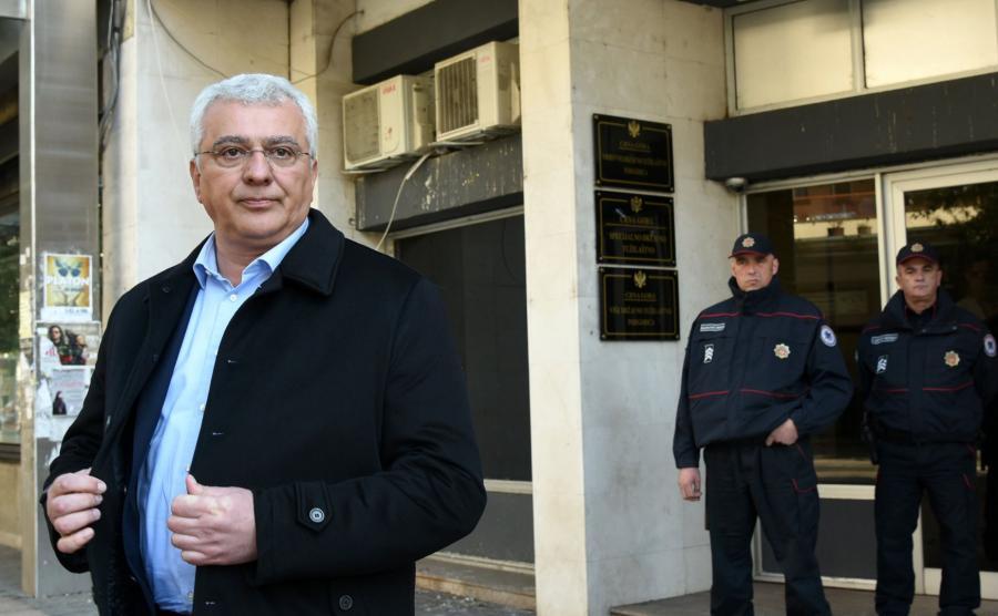 Andrija Mandic, lider prorosyjskiego Frontu Demokratycznego