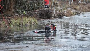 Akcja ratunkowa na zbiorniku wodnym Regaliczka