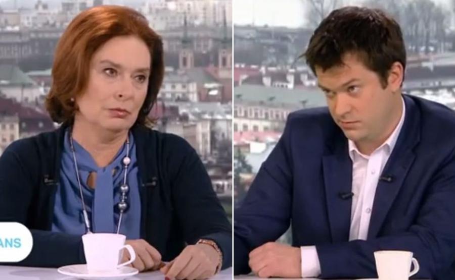 Małgorzata Kidawa-Błońska i Marek Pyza w \